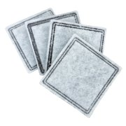 Premier Pet Replacement Carbon Filters for Pet Fountains - Removes Bad Tastes and Odors - Pack of 4