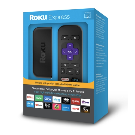 Roku Express HD - WITH 30-DAY FREE TRIAL OF SLING INCLUDING CLOUD DVR ($40+