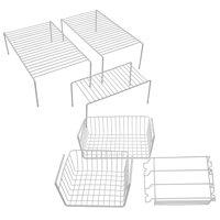 Mainstays 6pc Cabinet Organization Set, White