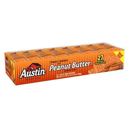Austin Cheese Crackers with Peanut Butter Sandwich Crackers, 1.38 Oz., 27