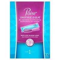 Poise Impressa Incontinence Bladder Supports, Size 1, 10 Ct