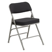Flash Furniture HERCULES Series Premium Curved Triple Braced and Double Hinged Pin-Dot Fabric Upholstered Metal Folding Chair, Multiple Colors