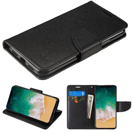 50c Case (iPhone X Case, iPhone 10 X Edition Case, by Insten Stand Folio Flip Leather Wallet Flap Pouch Case Cover for Apple iPhone X edition 5.8