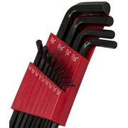 Bastex 13pc Allen Ball Point End Long Arm Hex Key Head Wrench Set with Case for