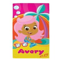 "Personalized Bubble Guppies Molly Microfiber 58""W x 28""H Beach Towel"