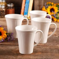 The Pioneer Woman Paige 4-Piece Transparent Glaze Mug Set
