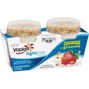 Yoplait Light Yogurt with Granola Strawberry, 12 oz, 2 Count