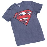 febb9c9789051 Superman Mens Shield Logo T-Shirt Tee Shirt Super Hero DC Comics  DCSUPERMAN-NAVY