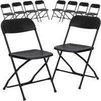 Flash Furniture 10-Pack HERCULES Series 800 lb Capacity Premium Plastic Folding Chair, Multiple Colors