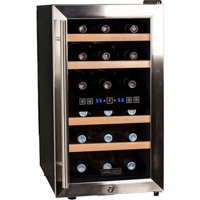 "Koldfront TWR187E 14"" Wide 18 Bottle Wine Cooler with Dual Cooling Zones"