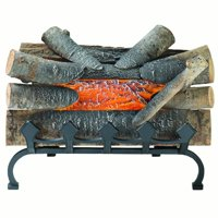 Pleasant Hearth L-20WG Electric Crackling Log w/Grate