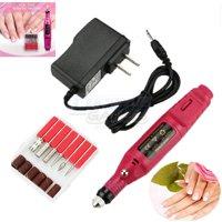TekDeals Nail File Drill Kit Electric Manicure Pedicure Acrylic Portable Salon Machine