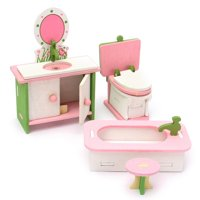 Doll Dollhouse Furniture Set Wooden Dolls House Miniature Accessory Room Furniture Set Kids Pretend Play Toys Kitchen/Guest room/Bathroom/Bedroom