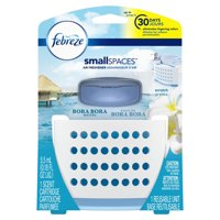 (2 pack) Febreze Small Spaces Air Freshener Starter Kit, Bora Bora Waters, Includes One Reusable Unit and One Scent Cartridge