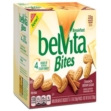 - (6 Pack) Belvita Bites Cinnamon Brown Sugar Mini Breakfast Biscuits, 8.8 Oz