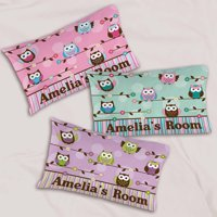 Personalized Colorful Owl Pillowcase