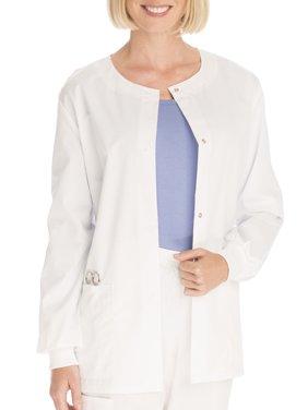 Scrubstar Women's Core Essentials Mechanical Stretch Snap Front Scrub Jacket