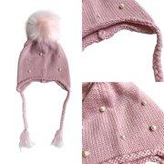 57dbc83653b Newborn Baby Boys Girls Winter Warm Wool Pom Bobbles Knit Beanies Hat Kids  Caps