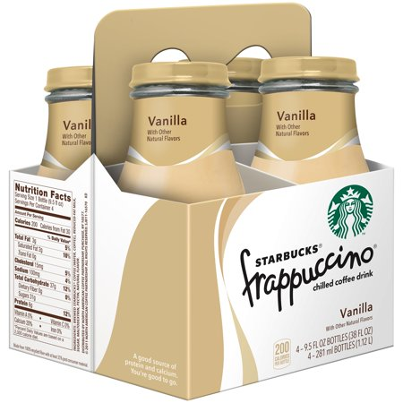 (24 Bottles) Starbucks Frappuccino Chilled Coffee Drink, Vanilla, 9.5 fl oz Bottles - Starbucks Frappuccino Halloween