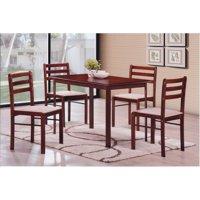 Hodedah Imports Starter 5 Piece Dining Table Set