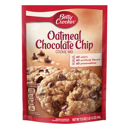 Betty Crocker Chocolate Chip Cookie ((2 Pack) Betty Crocker Oatmeal Chocolate Chip Cookie Mix, 17.5)