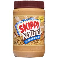 Skippy Natural Super Chunk Peanut Butter, 40 oz