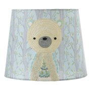 Blue And Yellow Embroidered Bear In Forest Designed Lamp Shade 10
