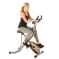 EXERPEUTIC GOLD 575 XLS Bluetooth Smart Technology Folding Upright Exercise Bike, 400 lbs