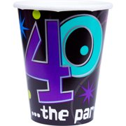 The Party Continues 40th Birthday 9oz Cups