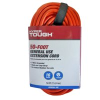 Hyper Tough 50ft 16/3 Orange Extension Cord
