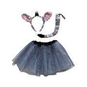 b82fcdc95a So Sydney Kids Teen Adult Plus 2 Pc Tutu Skirt, Ears, Tail Headband Costume