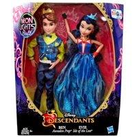 Disney Descendants Neon Lights Ball Ben & Evie Doll 2-Pack