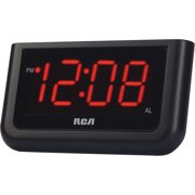 """RCA RCD30 Alarm Clock with 1.4"""" Red Display"""