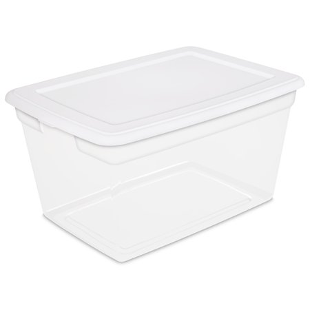 Sterilite 58 Qt./55 L Storage Box, White