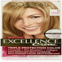 L'Oreal Paris Excellence Créme Permanent Hair Color, 8 Medium Blonde 1 ea