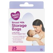 Parent's Choice Breast Milk Storage Bags, 25 ct