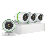 EZVIZ 720p Outdoor Security Camera System, 4 HD Weatherproof Cameras, 8 Channels with 1TB DVR