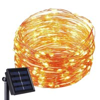 Kohree Solar Powered String Light 120 Micro LEDs 20ft Ultra Thin Copper Wire