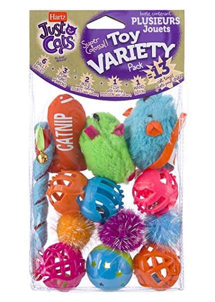Hartz Just For Cats Cat Toy Variety Pack, 13 (Pink Cat Toy)