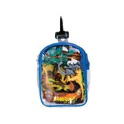 RINCO Realistic Dinosaur Playset: 12 Piece Toy set in Clip Bag for Play on the GO!