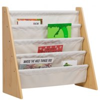 Wildkin Kids Book Rack and Bookshelf, Tilted 4-Tier, Multiple Colors