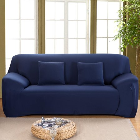 Stretch Sofa Slipcover, Elastic Sofa Cover Couch Pure Color Anti Wrinkle Sofa Protector 1-4 Seater For Moving Furniture Living Room ()