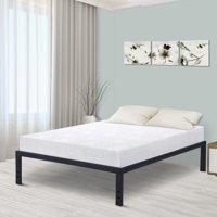 GranRest 18'' Modern Dura Steel Slat Bed Frame, Non-Slip