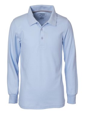 Cherokee Uniform Boys' Long Sleeve Pique Polo