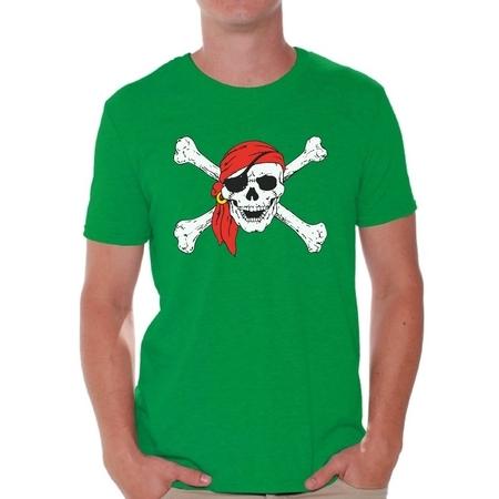 Awkward Styles Men's Jolly Roger Skull Graphic T-shirt Tops Day of Dead Pirate Skull - Mens Black Pirate Shirt