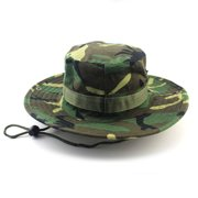 Camouflage Military Style Round Hat black 007f25f28a3