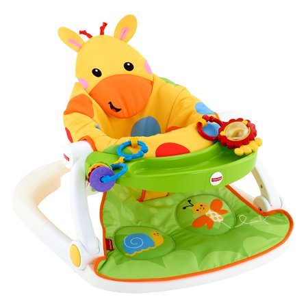 Fisher Price Sit Me Up Floor Seat With Tray Giraffe
