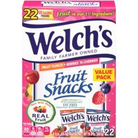 (2 Pack) Welch's Fruit Snacks, Fruit Punch & Berries 'N Cherries, 0.9 Oz, 22 Ct