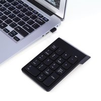 TOPINCN 2.4G Wireless Ultra Slim Numeric Keypad 18 Keys Mini USB Numpad Receiver Auto Sleep Mode