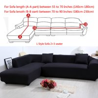 All-Cover Sectional Sofa L Shape, 2pcs Slipcover Elastic Washable Couch Cover, 2seater (55 to 74Inch)+3 Seater(74 to 90 Inch) Sofa Slipcover Couch Cover Stretch for L Shape Sectional Corner